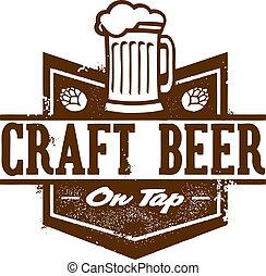 birra, grafico, mestiere