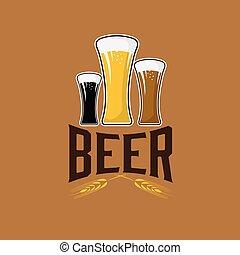 birra, illustrazione, occhiali