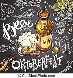 birra, illustrazione