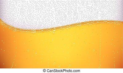 birra, indietro, onda