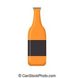 birra, isolato, bottiglia