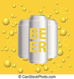 birra, lattine
