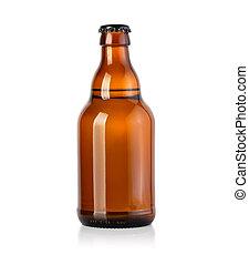 birra, marrone, bottiglia vetro