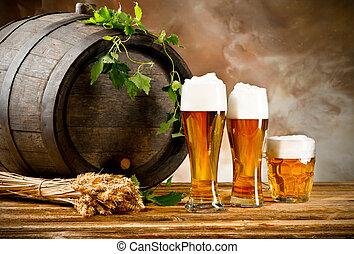 birra, natura morta