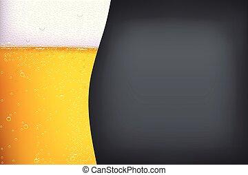 birra, oscurità, fondo