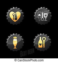 birra, pub, icone