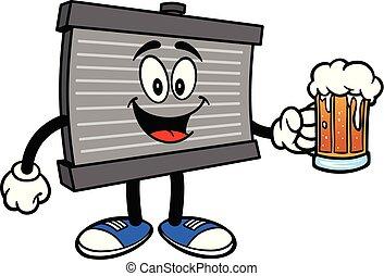 birra, radiatore, mascotte