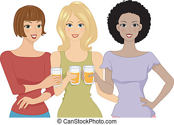 birra, ragazze