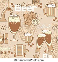 birra, seamless, fondo