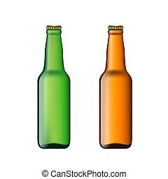 birra, set, bottiglie