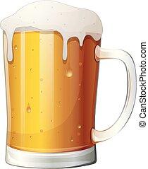 birra, tazza bianca, fondo