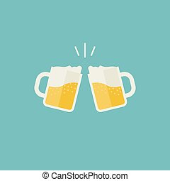 birra, tazze