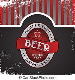 birra, tema, etichetta