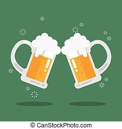 birra, tostare, occhiali