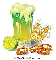 birra, verde