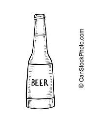 birra, vettore, bottiglia