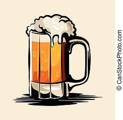 birra, vettore, illustrazione