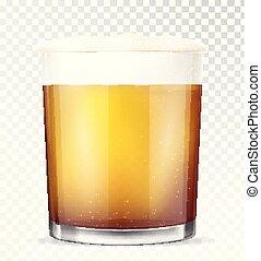 birra, vettore, vetro., illustrazione