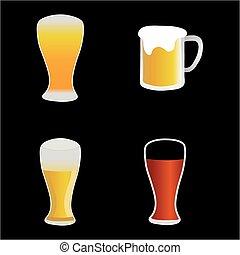 birra, vettore, vino