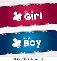 Birth Banners, It's A Boy, Girl