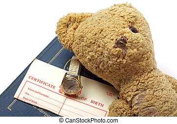 birth certificate watch old bear