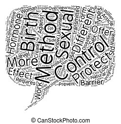 Birth Control An Overview text background wordcloud concept