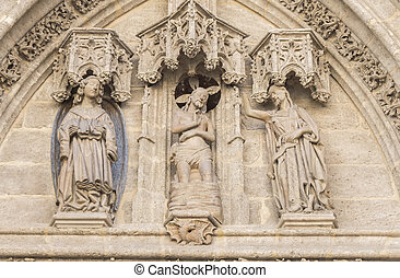 Birth door or gate of San Miguel of the Cathedral of Seville, Spain