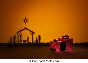 Birth Jesus with present