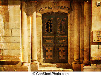 Birth place of virgin mary in Jerusalem old town. Israel