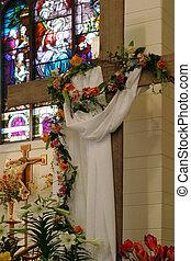 Birth - Resurrection - The festive decoration of a small...