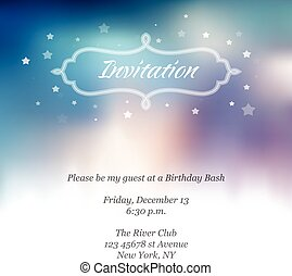 Birthay invitation template with abstract background.