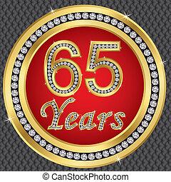 birthda, 記念日, 年, 65, 幸せ