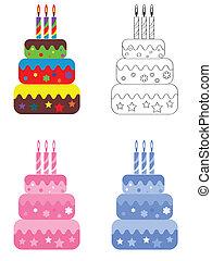 birthday, セット, ケーキ