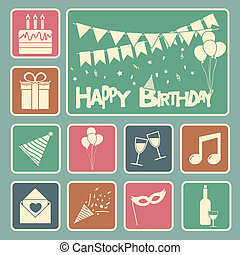 birthday, セット, 幸せ