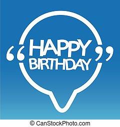 birthday, デザイン, イラスト, 幸せ