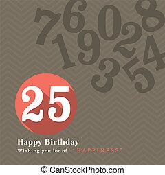 birthday, デザイン, カード