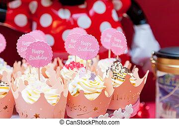 birthday, 御馳走, ∥ために∥, a, 女の子