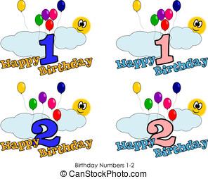 birthday, 数, 1-2