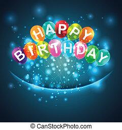 birthday, 風船, 背景, 幸せ
