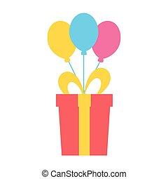 birthday, 風船, 贈り物