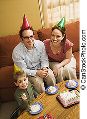 birthday, 食べること, 家族, cake.