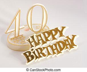 birthday, 40th, 印