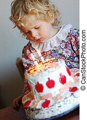 Birthday - A girl with cake on her birth day