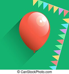 Birthday air balloon icon