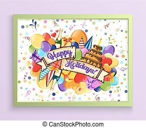 Birthday Anniversary Party Invitation Card Template.