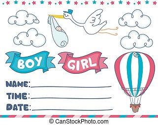 Birthday Baby Invite Design Elements