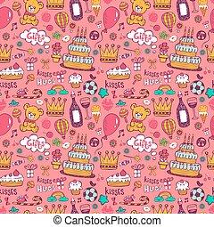 Birthday background on pink