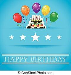 Birthday background with balloon - Celebration background...