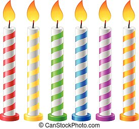 Birthday background with candles