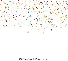 Birthday background with confetti, element for design, vector illustration